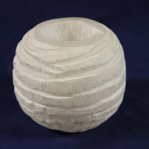 Rounded Rough Selenite Candle Holder