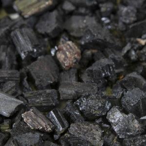 Black Rough Tourmaline Gravel - One Pound Mix