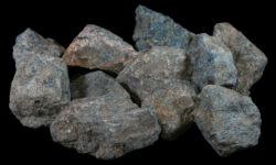 Several 1 to 3 pound Blue Apatite pieces
