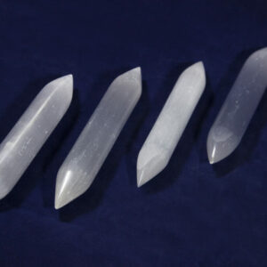 Selenite Double Sided point wands, double terminated wand, selenite message wand, double perfecto wand