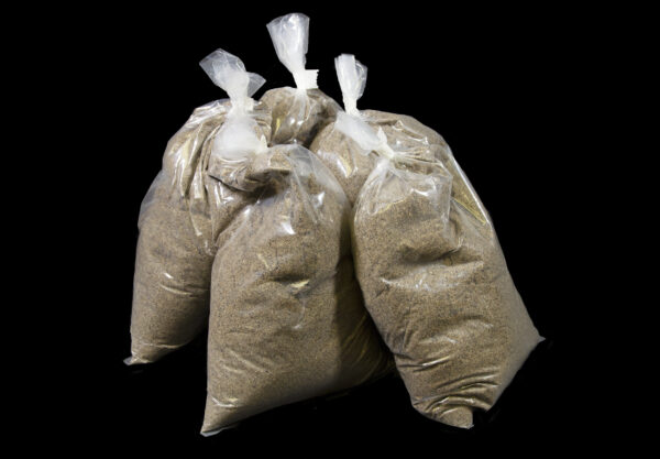 Big Bag Plus Refill five bags of sand side view