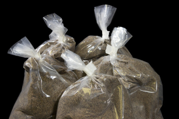 Big Bag Plus Refill five bags of sand close up view