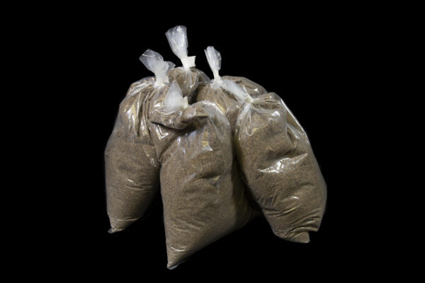 Big Bag Plus Refill five bags of sand top view