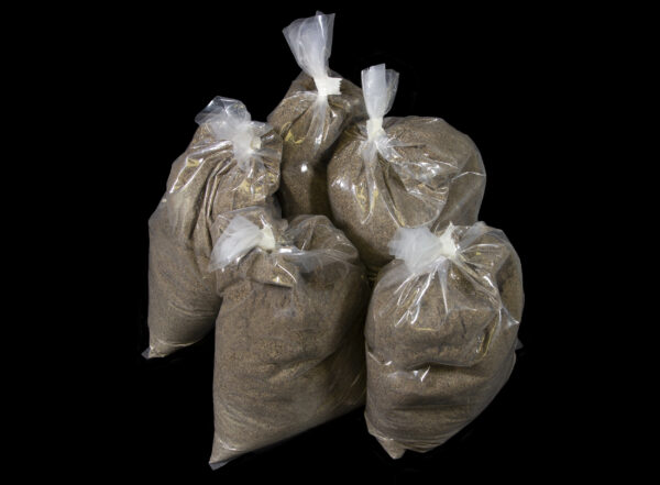 Big Bag Plus Refill five bags of sand view from side
