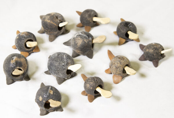 Unpainted Looseneck Turtle Figurines view from top