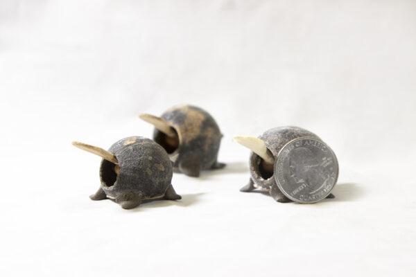 Unpainted Looseneck Turtle Figurines side view